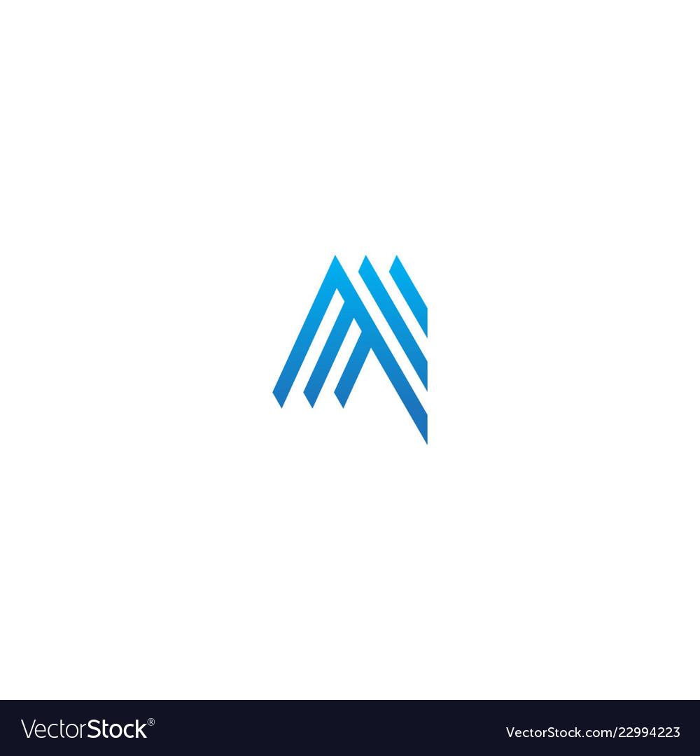 Abstract shape line company logo