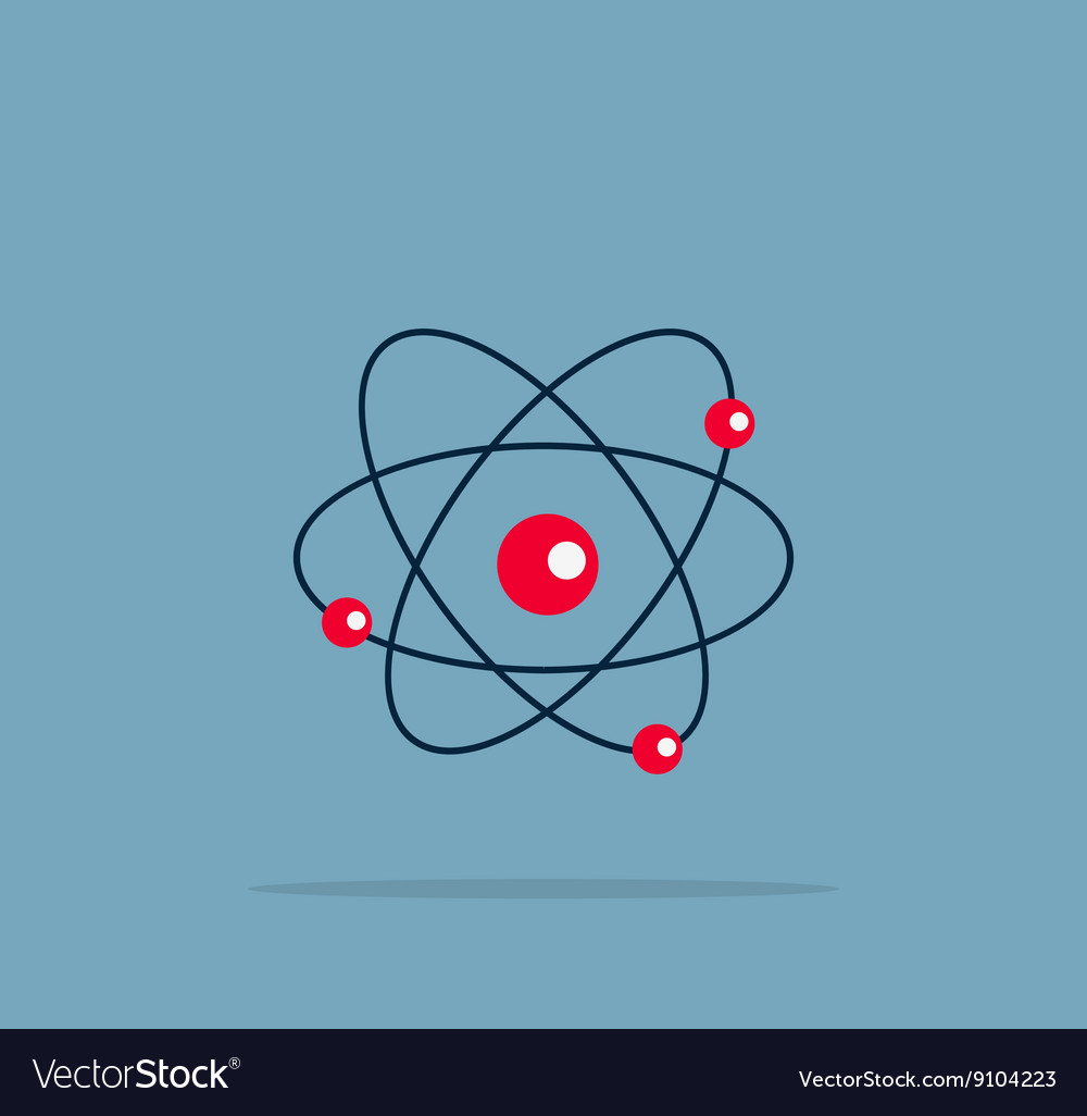Atom Structure Symbol vector image