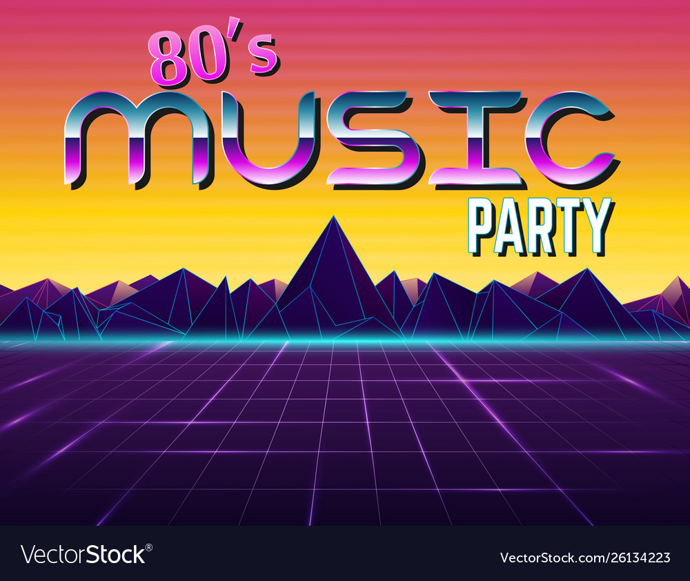 Background in style 80s