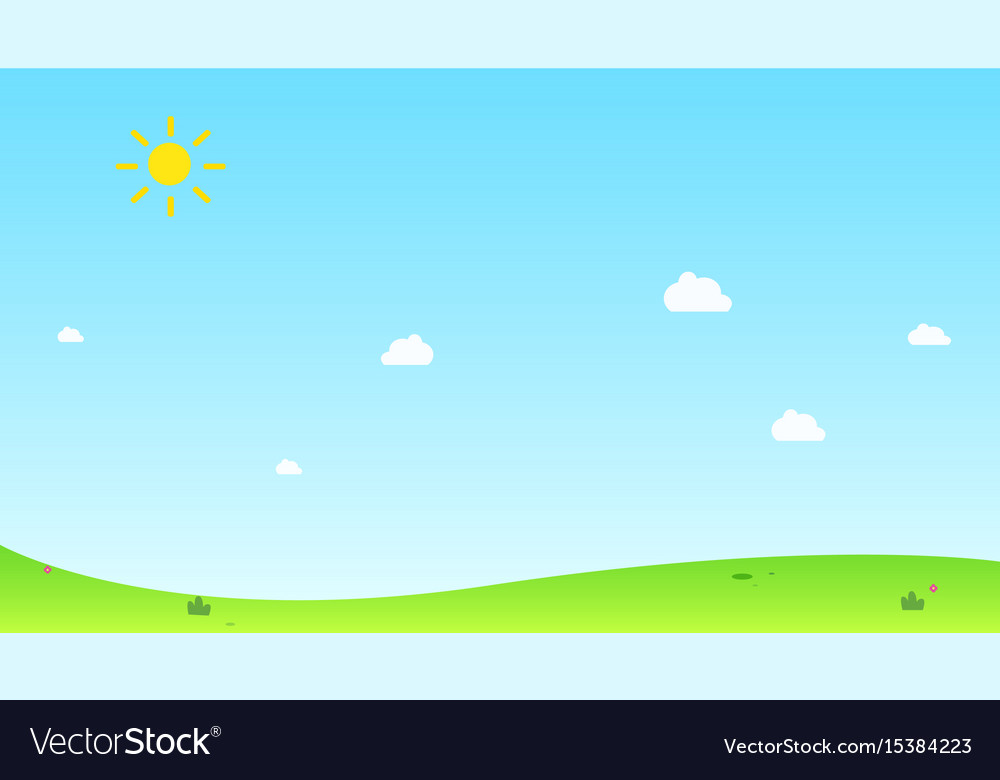 Hill with sun and sky background