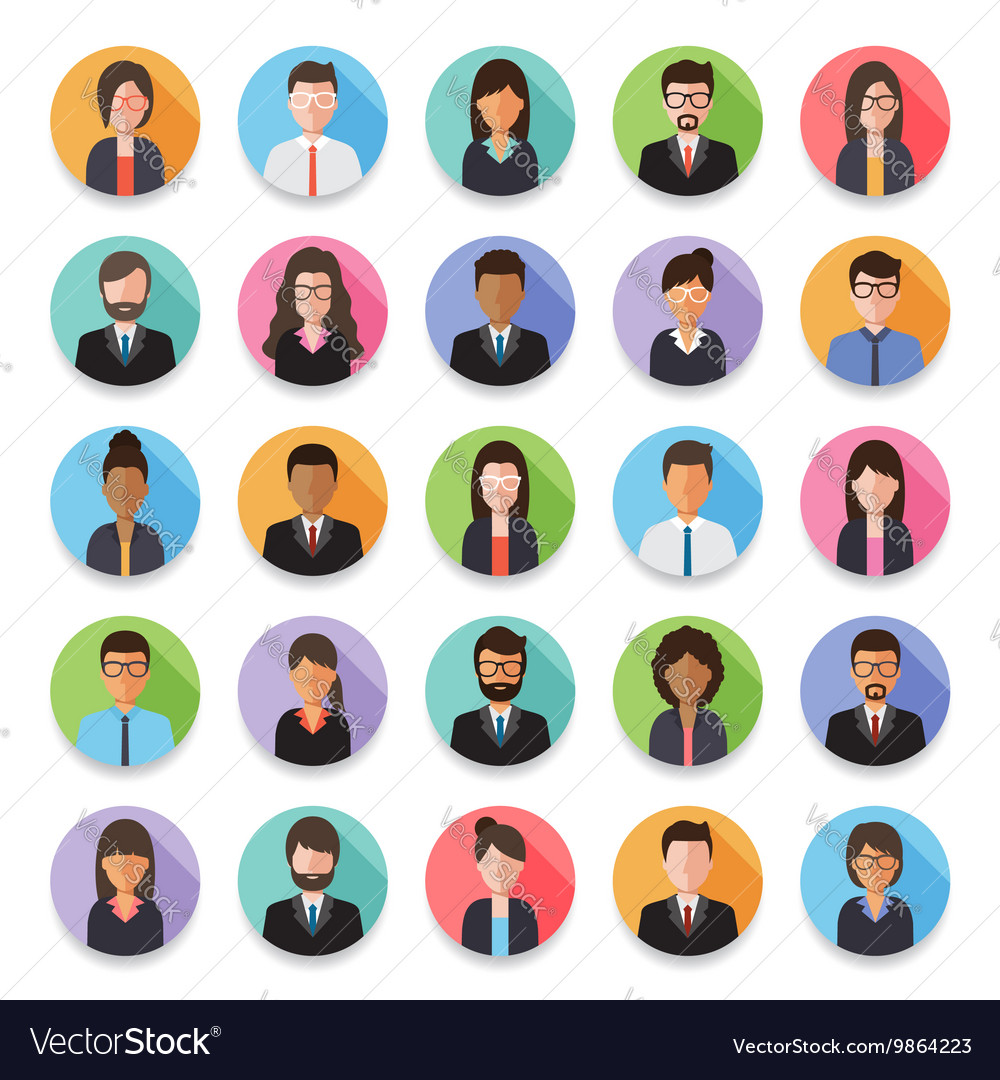People avatar icon vector image