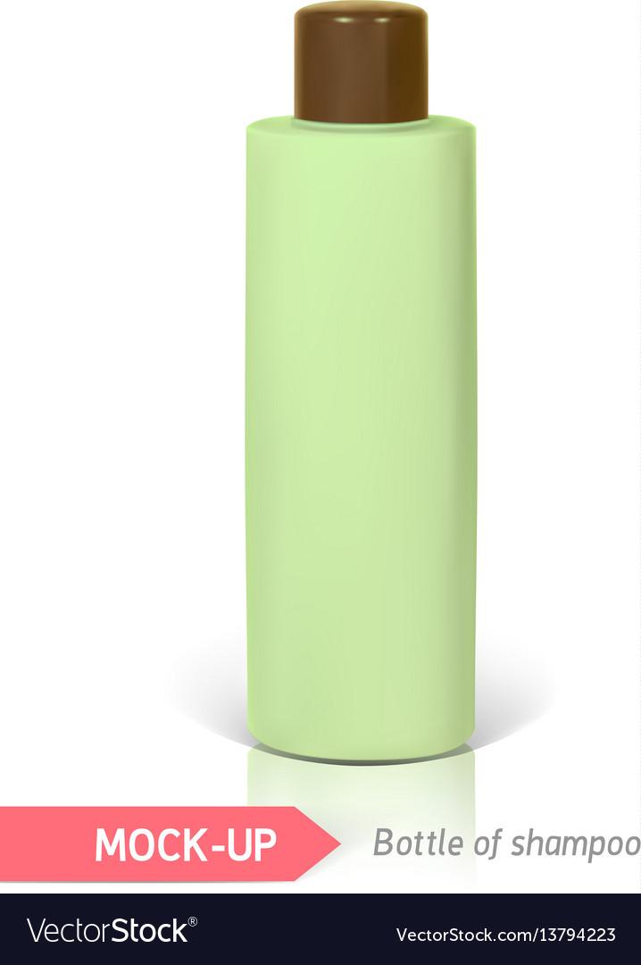 Small bottle of shampoo