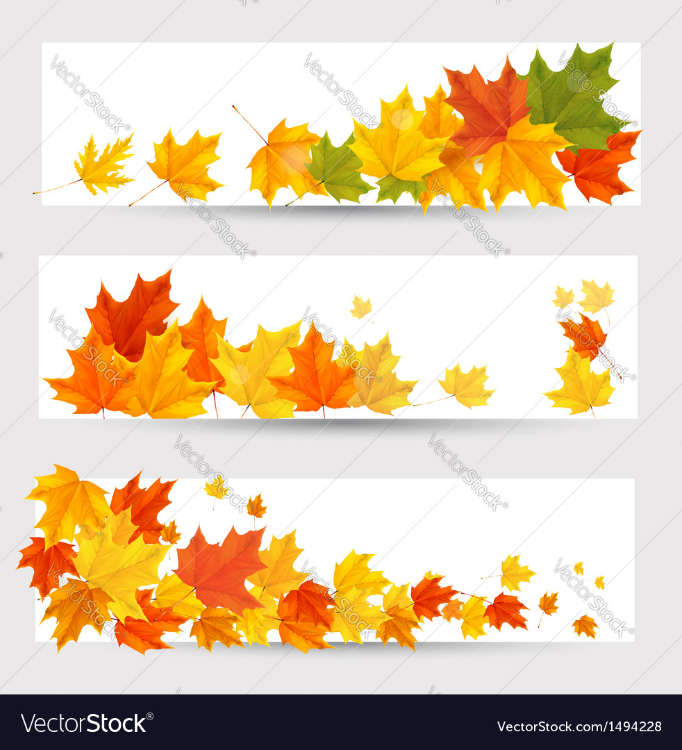 Autumn leaves banners