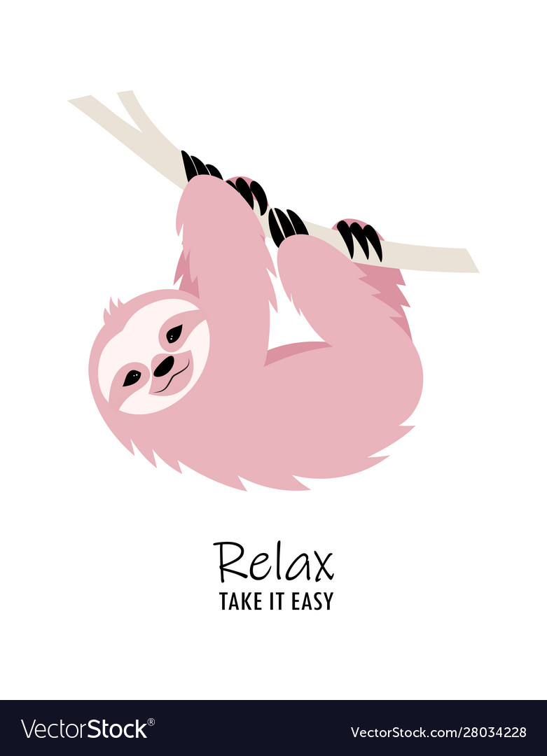 Card with cute sloth