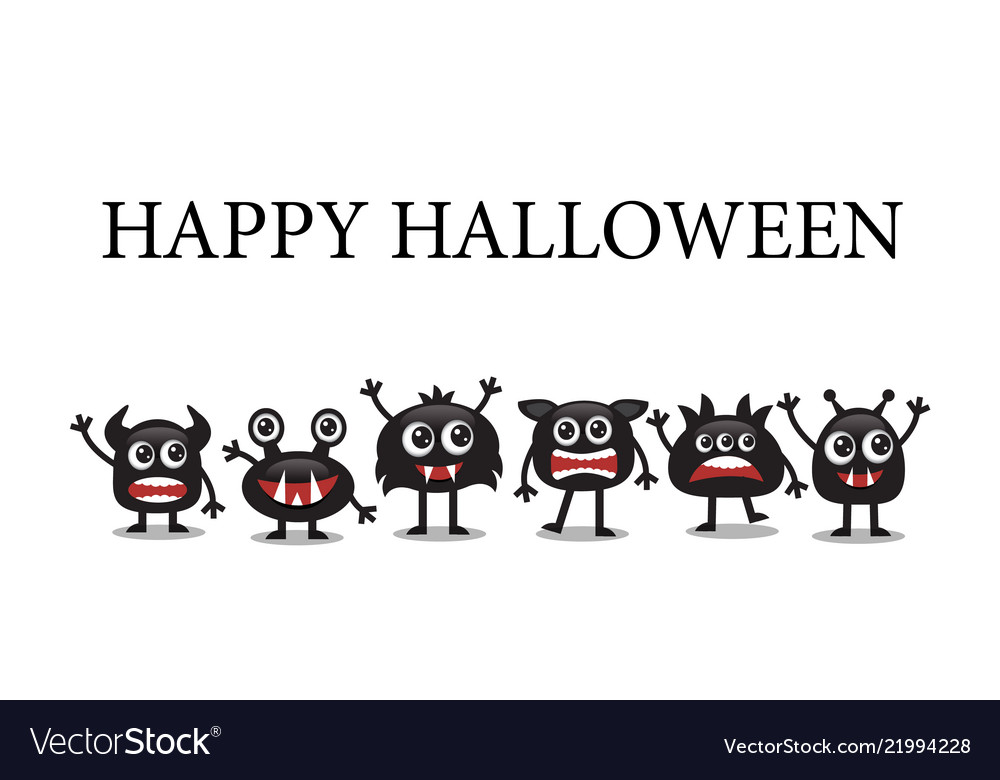 Cute monsters for halloween