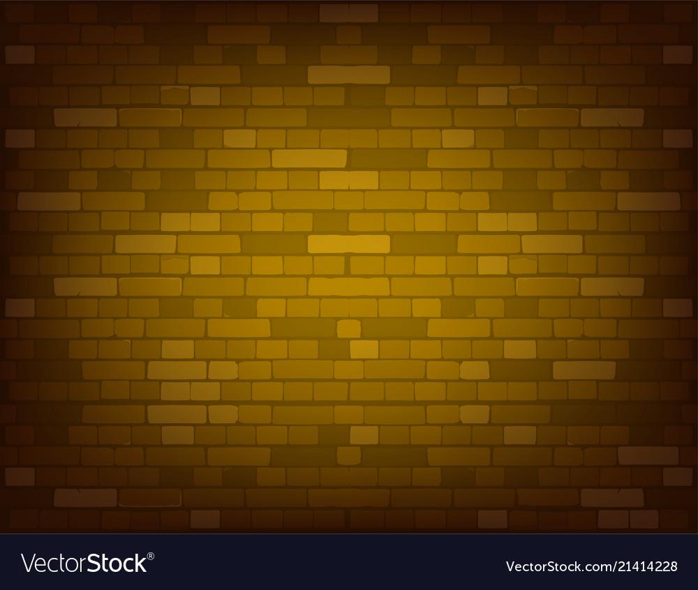 Dark yellow brick wall realistic