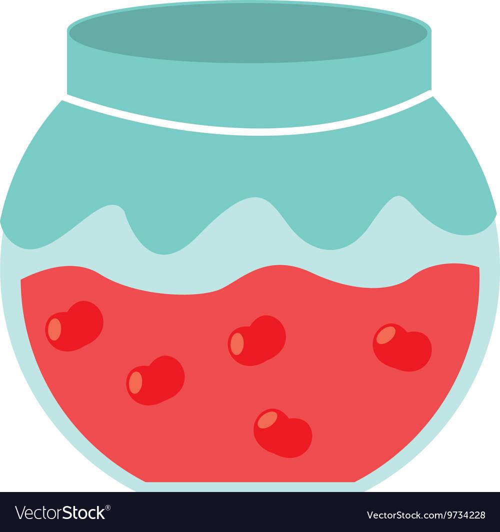 Fruit jam isolated icon design