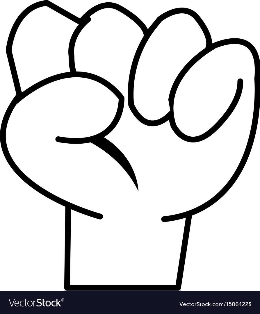 Hand fist kid cartoon image icon vector image