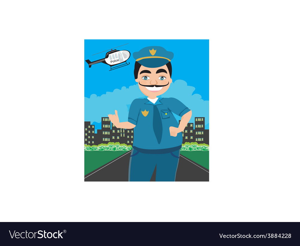 Night Patrol Police vector image