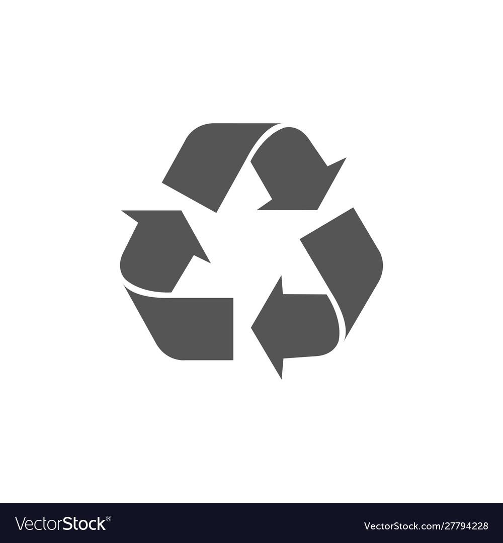 Recycle arrows circle icon eco waste bin