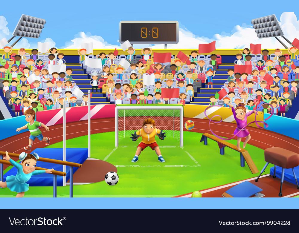Stadium sports arena background