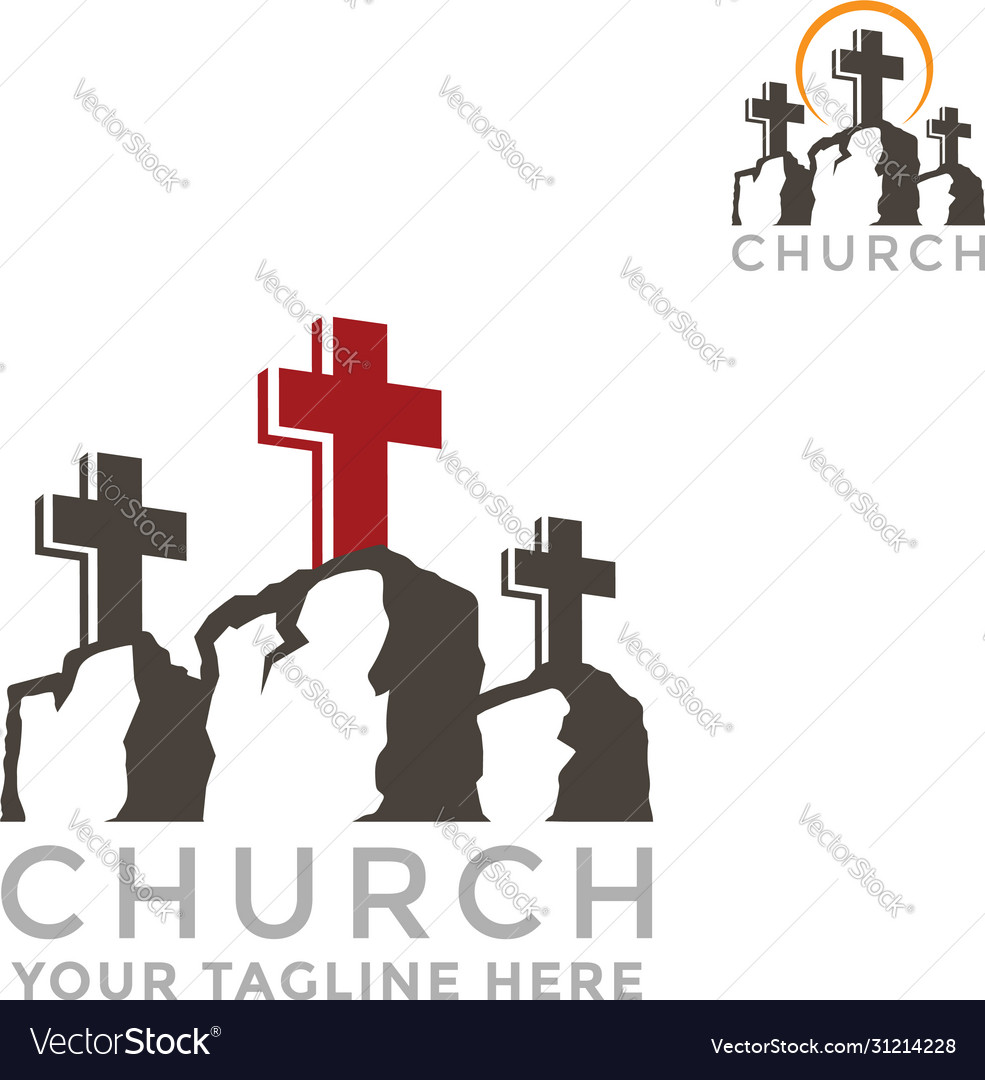 Template logo for churches mountain calvary