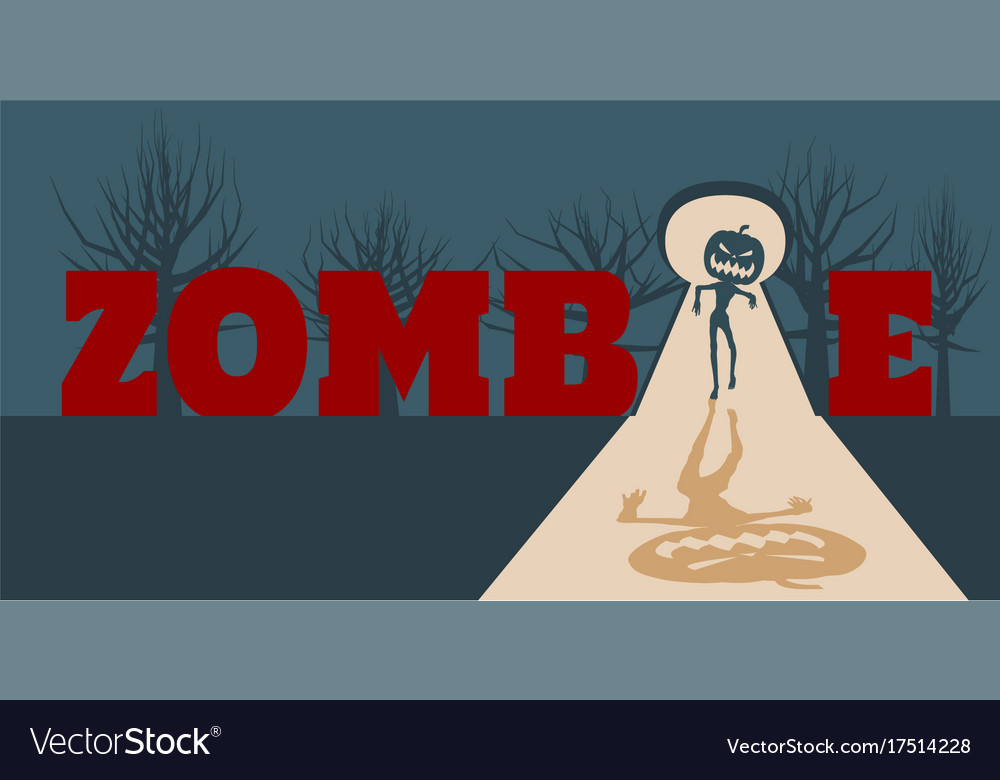 Zombie comes into the house vector image
