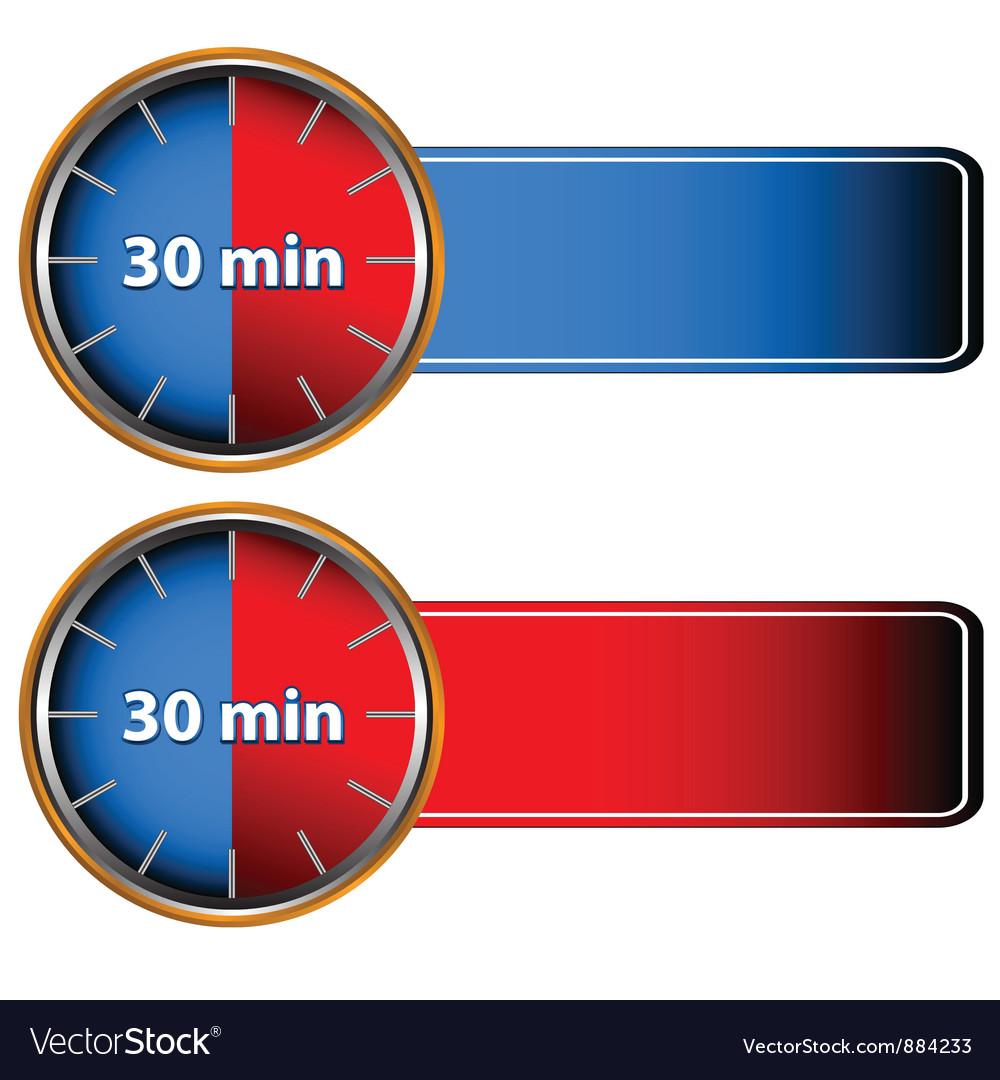 30 minutes labels royalty free vector image vectorstock