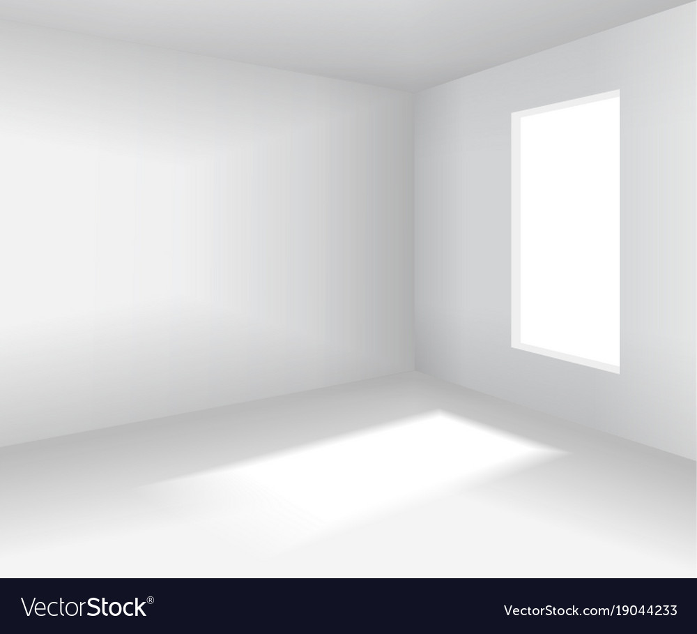 Empty White Room 3d Blank Interior Royalty Free Vector Image