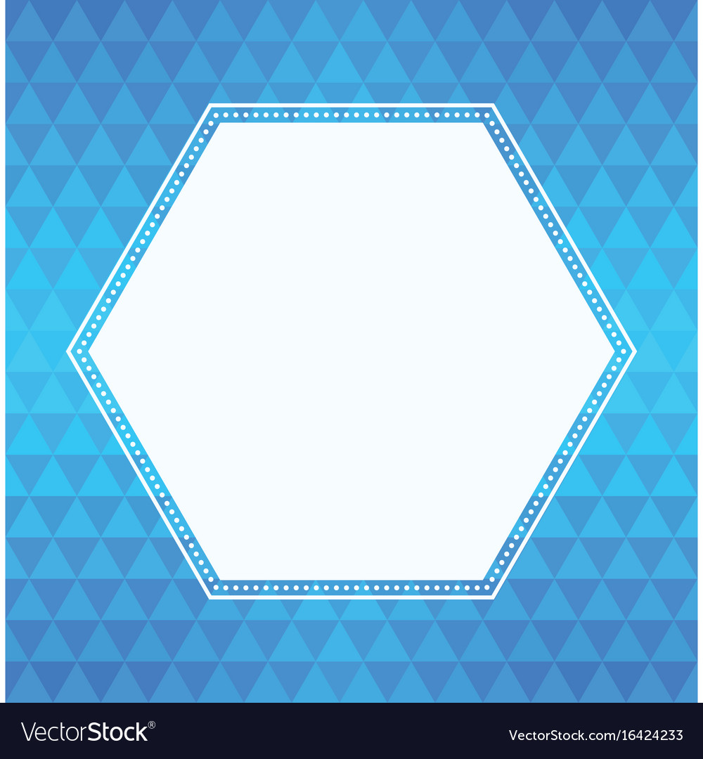 Geometric triangle background and hexagon frame Vector Image