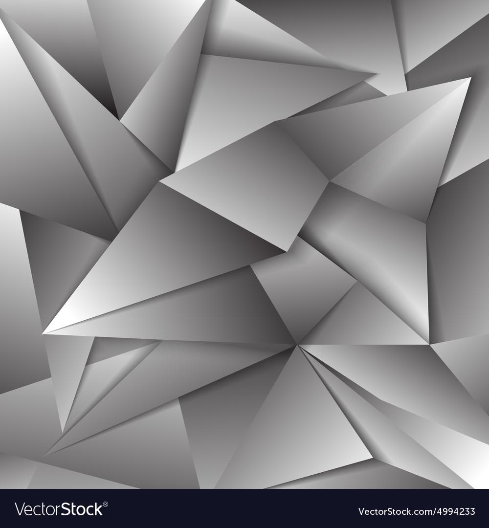Gray polygonal abstract triangular mosaic