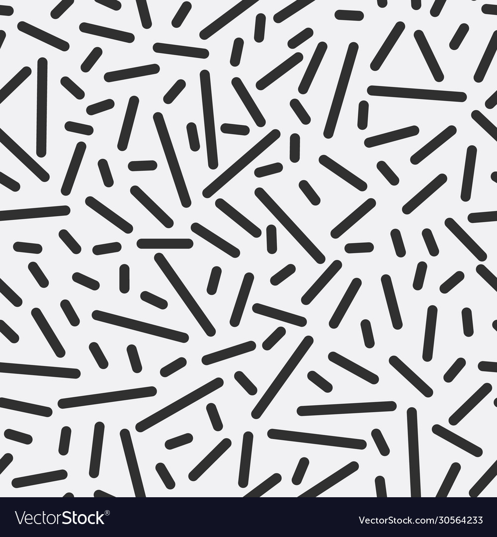 Monochrome strips geometric seamless pattern