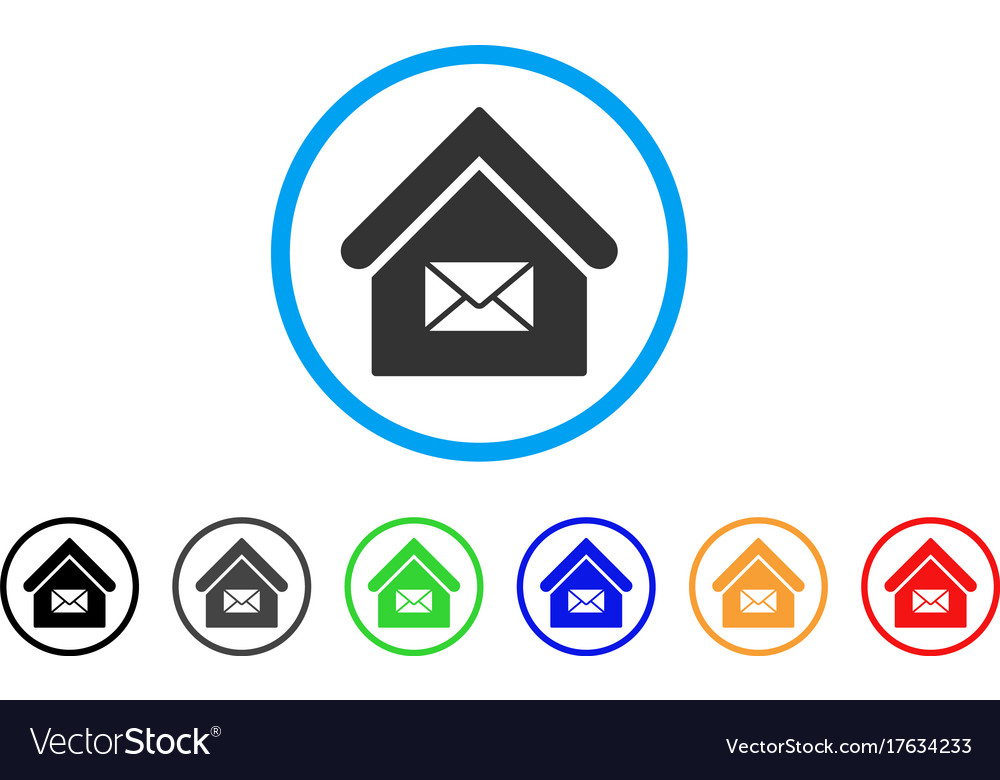 Post office rounded icon