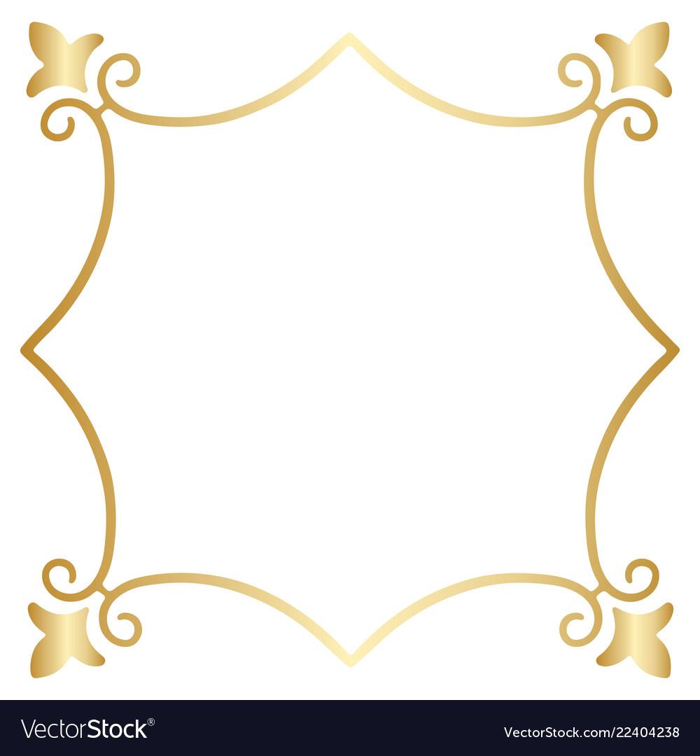8ebc766ca403 A golden square vintage style border frame Vector Image