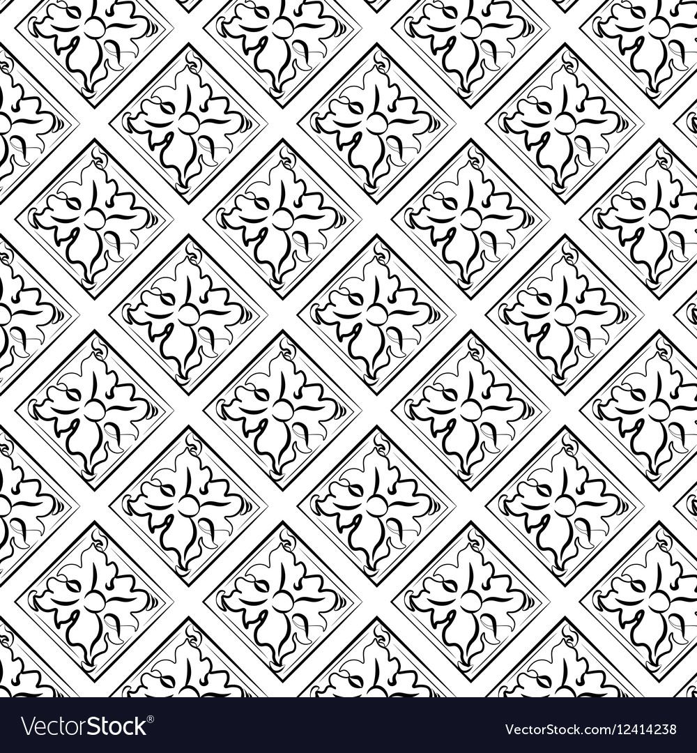 Abstract classic ornament pattern