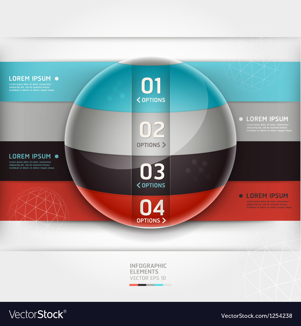 Abstract infographics element circle template