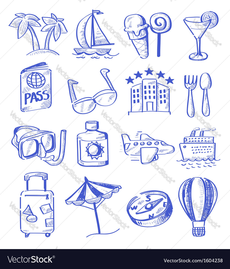 Hand draw travel