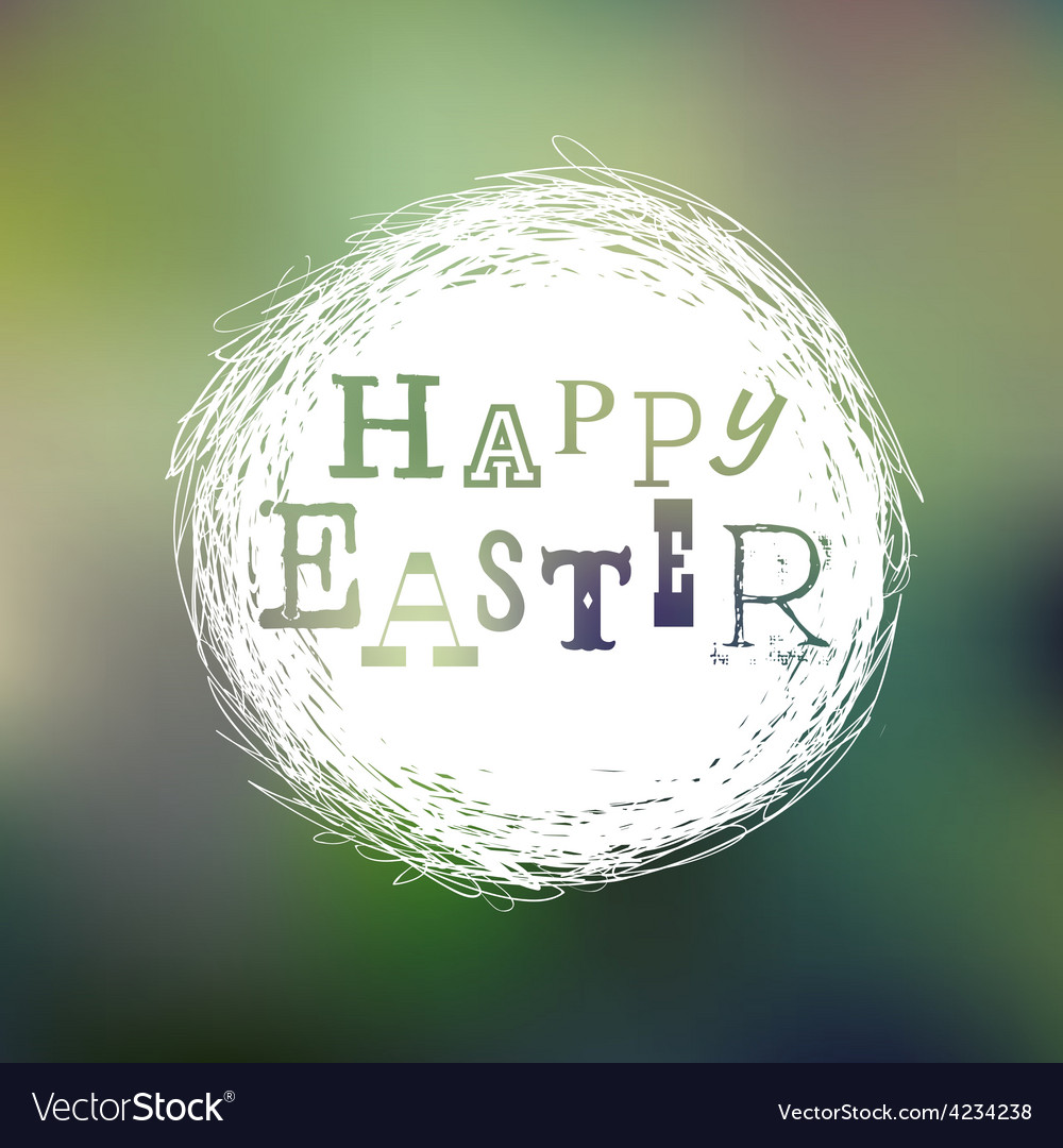 Happy easter mesh card