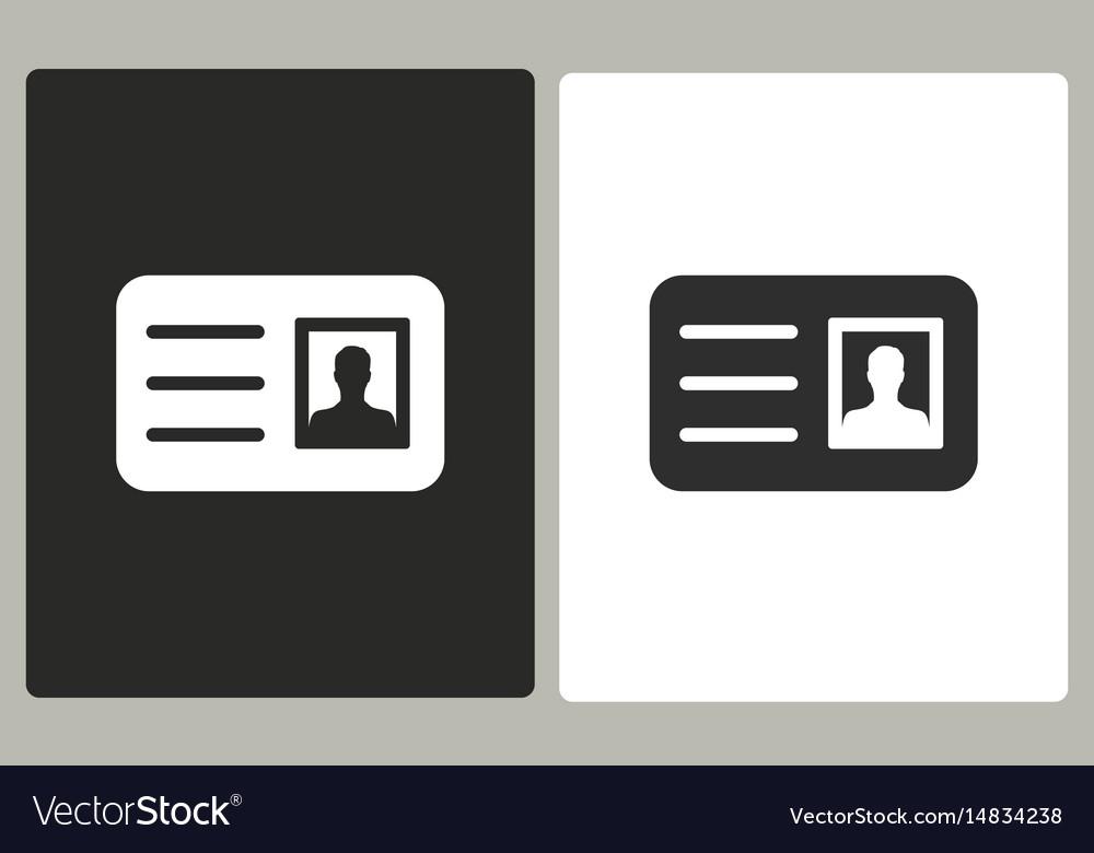 Identification card - icon vector image