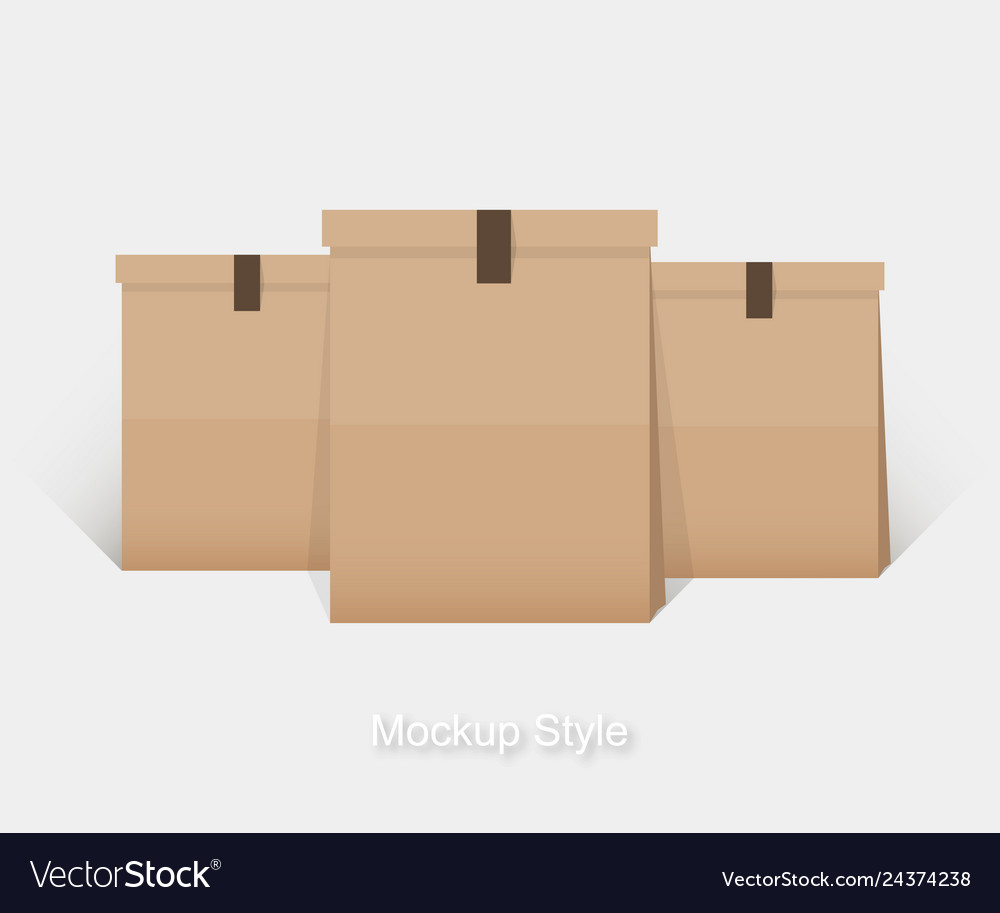 Mockup of blank paper package for branding