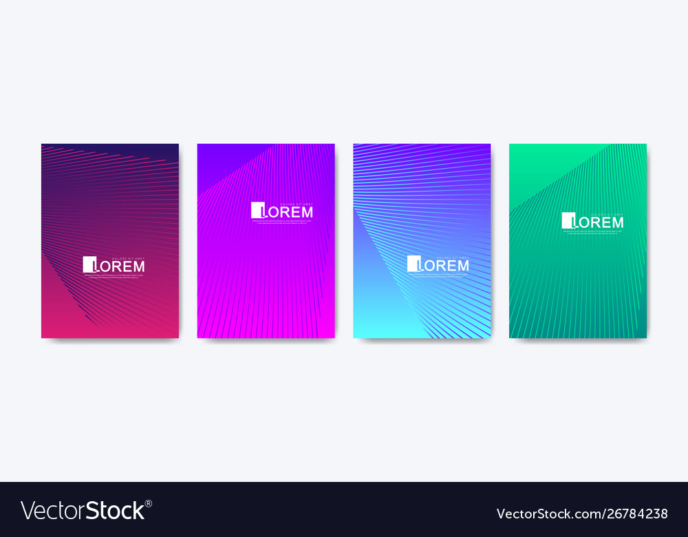 Modern colorful abstract gradient lines pattern