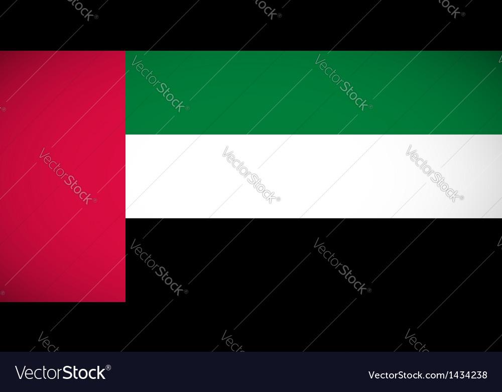 National flag united arab emirates
