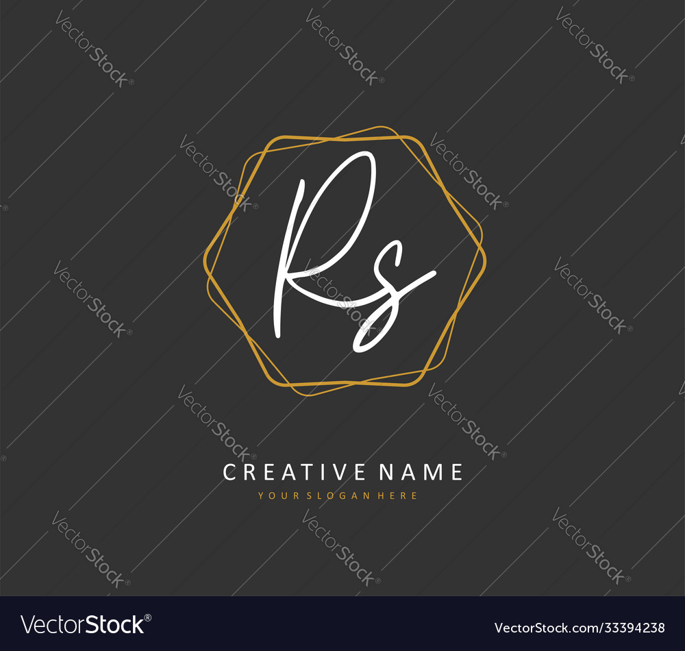 R s rs initial letter handwriting and signature