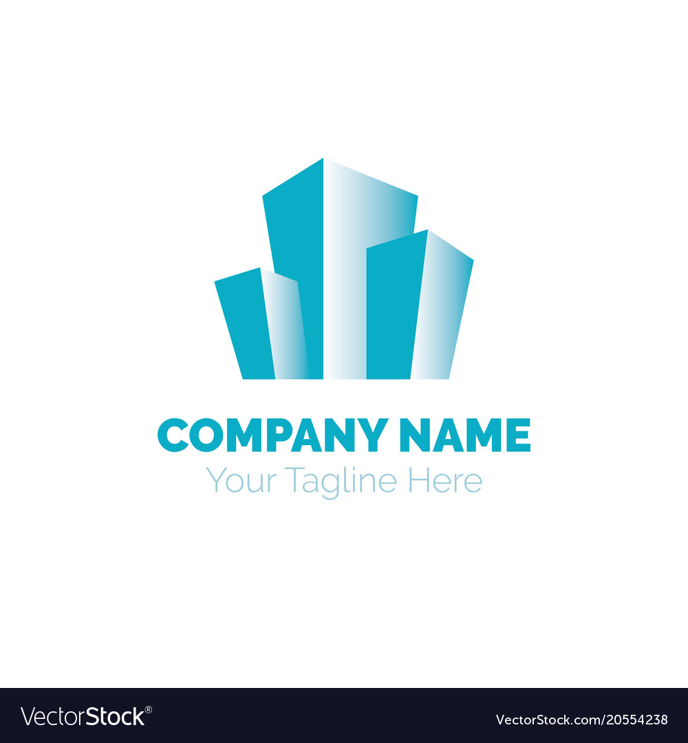 Real estate logo design template building