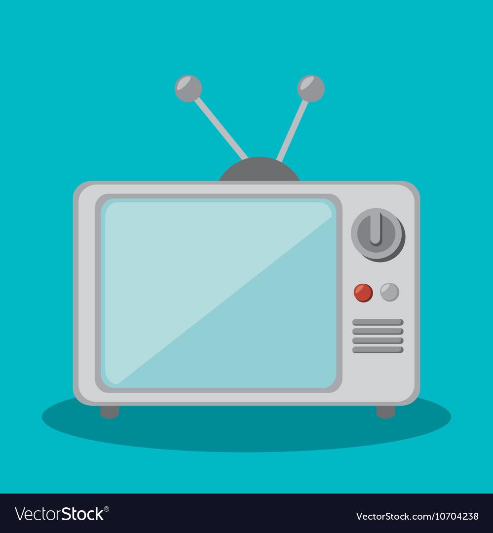 Tv retro social media isolated icon design