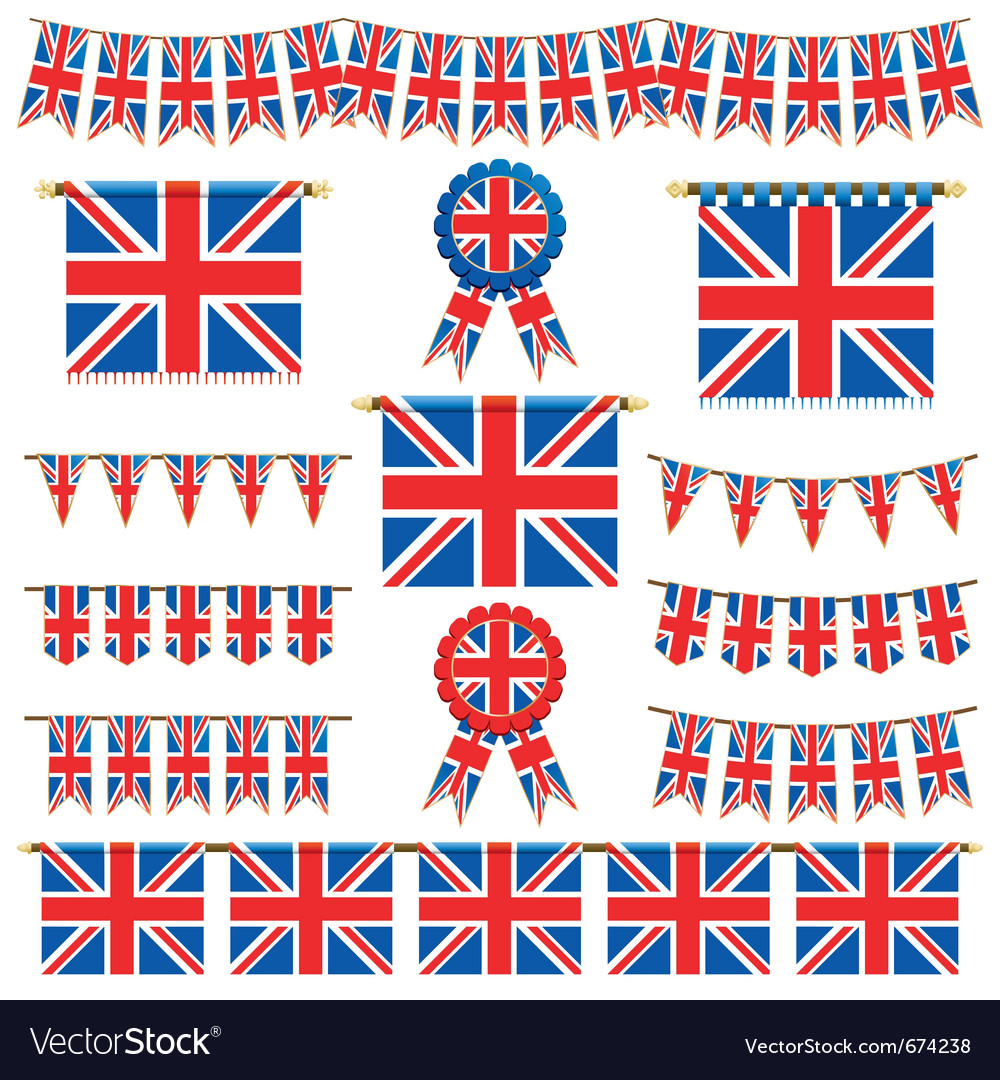 Union jack banners vector image