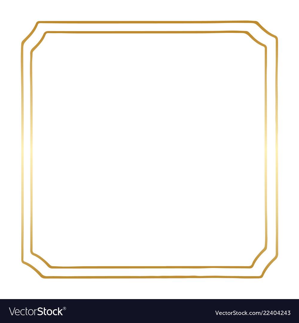 A golden square vintage style border frame