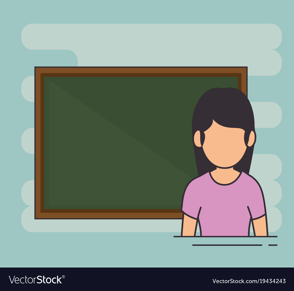 Avatar school teacher at the chalkboard