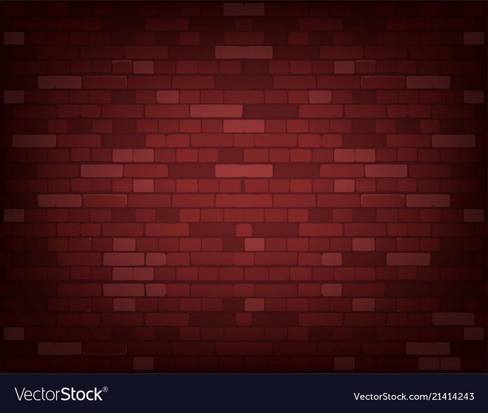 Dark red brick wall realistic background