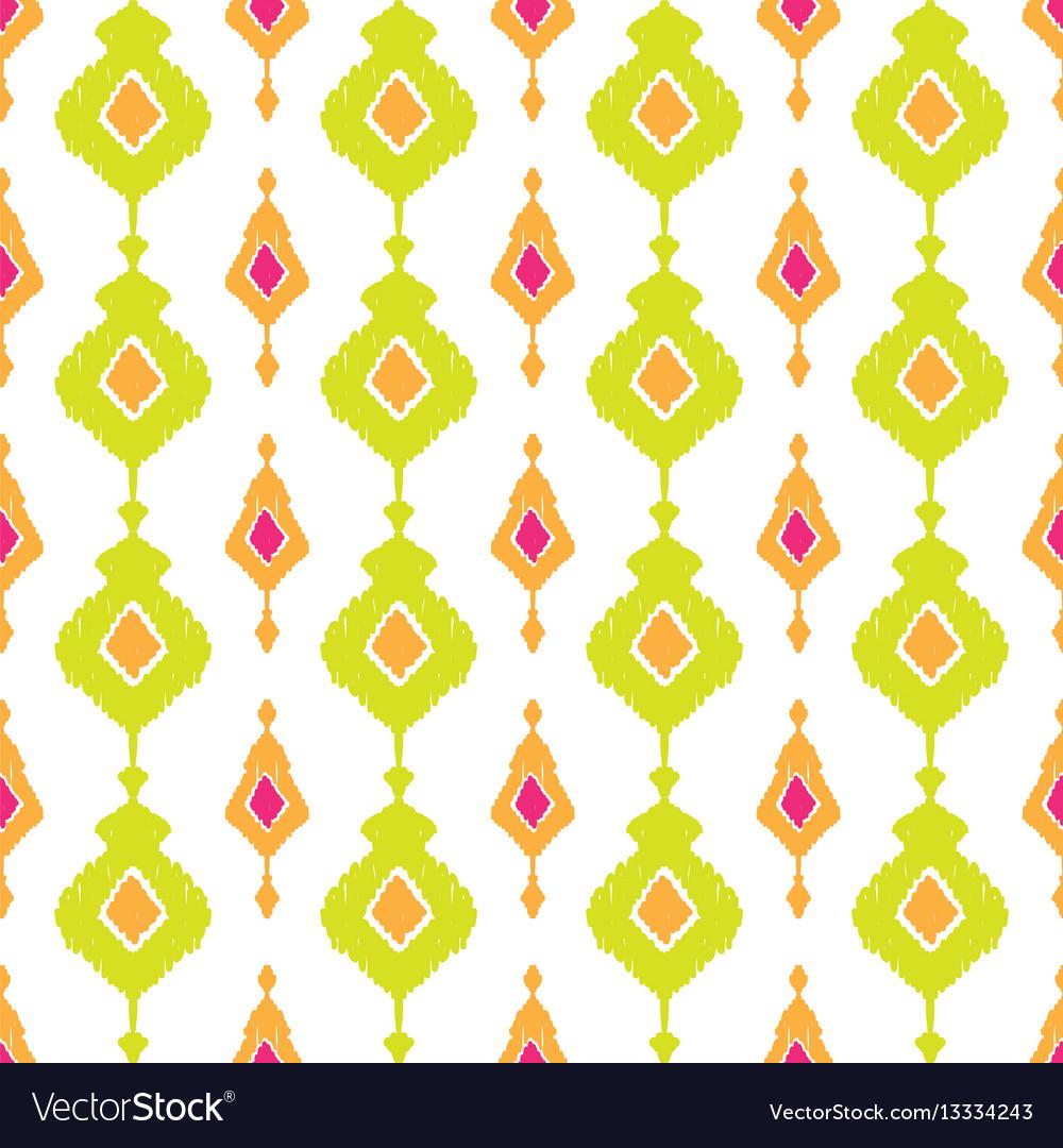 Ethnic ikat seamless pattern