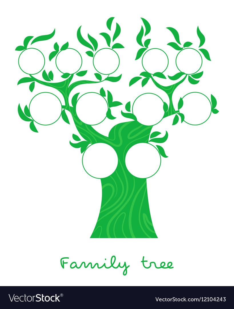 Family tree thin line style