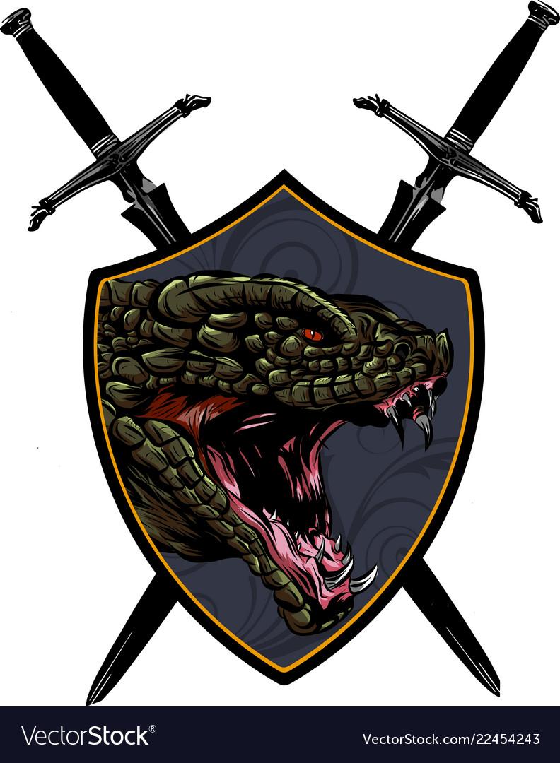 Head dragon - logo icon mascot