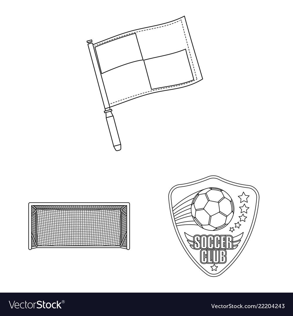 Isolated object of soccer and gear icon set of