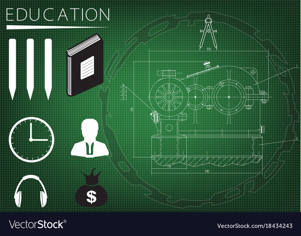 Machine-building drawing and icons