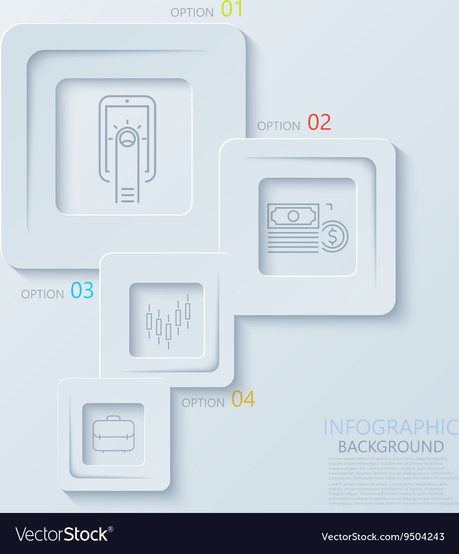 Modern creative infographics with thin line
