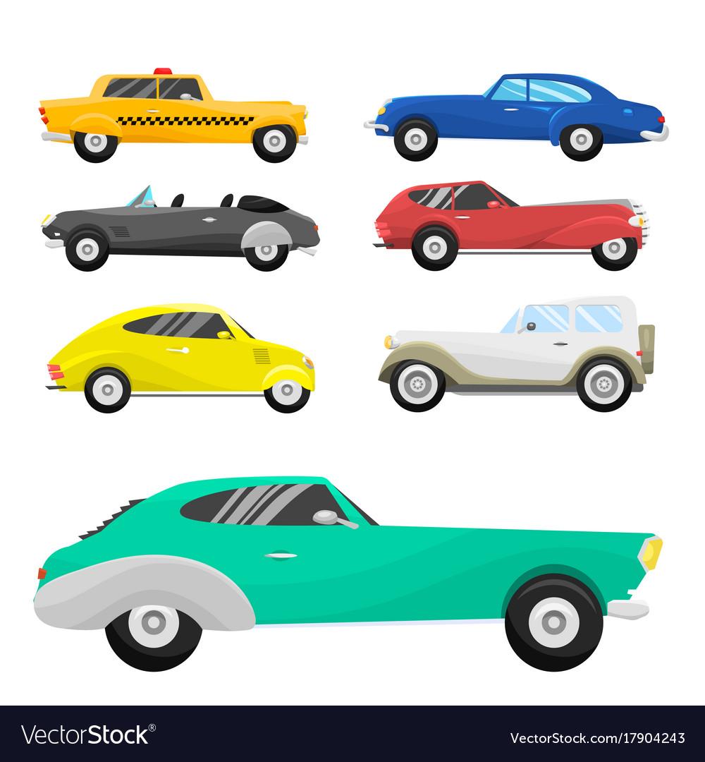 Retro vintage old style car vehicle automobile