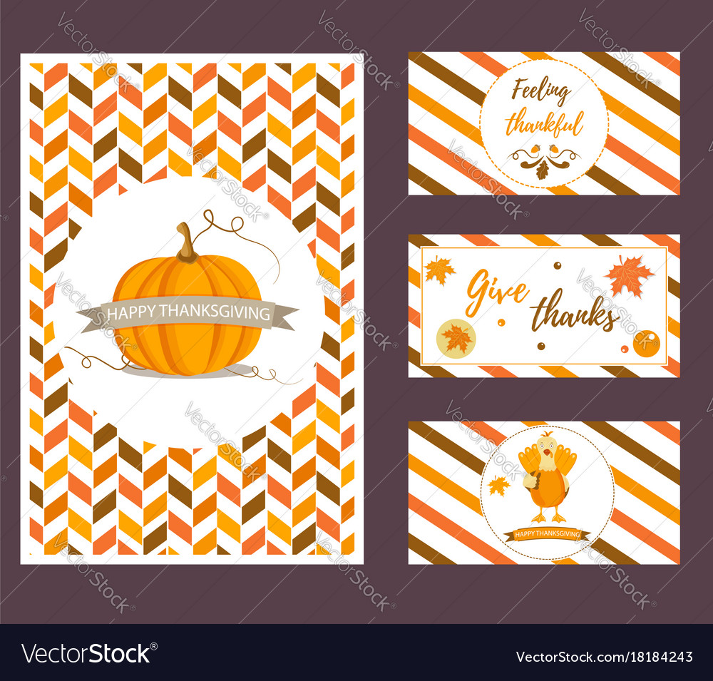 Set of holiday thanksgiving backgrounds