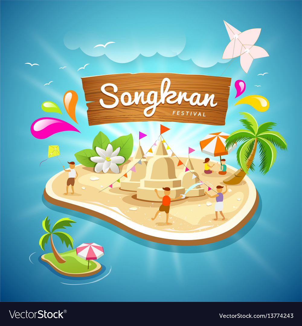 Songkran festival summer in thailand