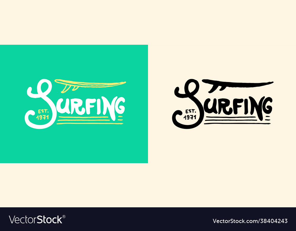 Surfing lettering sign summer surf surface water