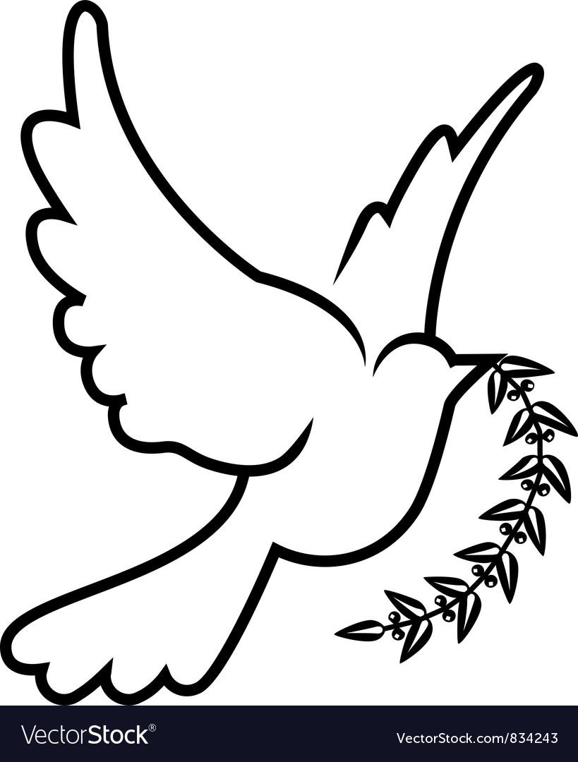 Symbol dove olive branch